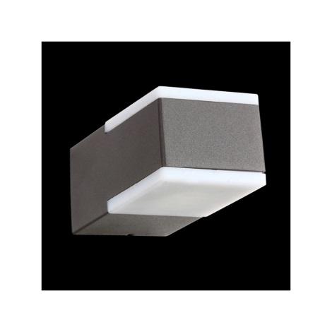 Nástenné svietidlo TECRA 2xLED/3W tmavá šedá