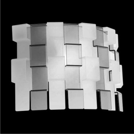 Nástenné svietidlo Zigzag matovaná/čierna 1xE27/60W