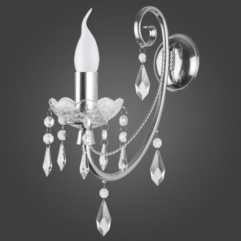 Nástěnné svítidlo CRISTAL KN/1/CR 1xE14/60W
