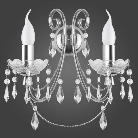Nástěnné svítidlo CRISTAL KN/2/CR 2xE14/60W