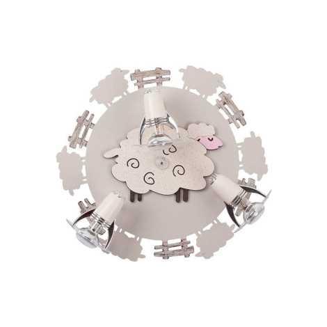 Nowodvorski 4076 - Detské bodové svietidlo SHEEP III PL - 3xE14/40W/230V