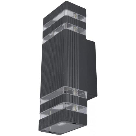 Nowodvorski 4424 - Vonkajšie nástenné svietidlo RIO II 2xE27/40W/230V IP54