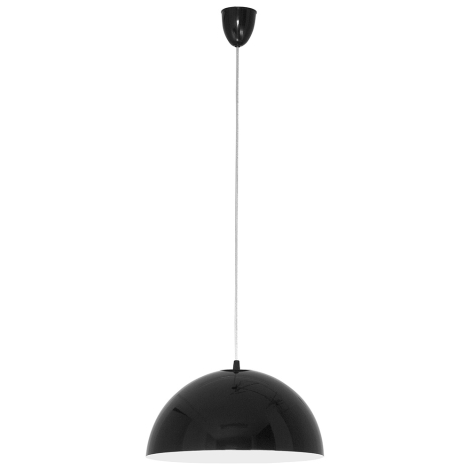 Nowodvorski 4838 - Luster na lanku HEMISPHERE BLACK-WHITE S - 1xE27/100W/230V