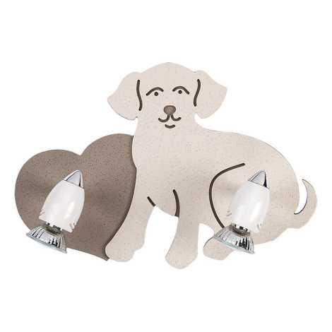 Nowodvorski 5831 - Detské bodové svietidlo DOG 2xGU10/35W/230V