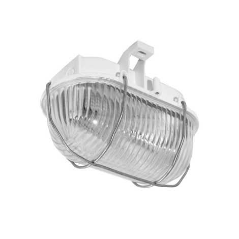 Panlux SOK-60/B - Vonkajší stropné svietidlo OVAL KOV 1xE27/60W/230V biela