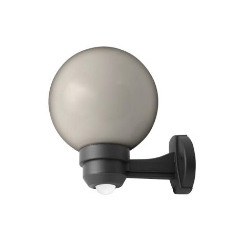 Panlux ZOK-S-20/C - Vonkajšie nástenné svietidlo s čidlom PARK S 1xE27/60W/230V