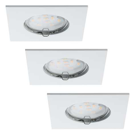 Paulmann 92760 - SADA 3x LED/6,8W IP44 Kúpeľňové podhľadové svietidlo COIN LED/6,8W/230V