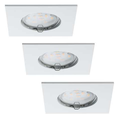 Paulmann 92760 - SADA 3xLED/6,8W IP44 Kúpeľňové podhľadové svietidlo COIN 230V