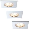 Paulmann 92763 - SADA 3xLED/6,8W IP44 Kúpeľňové podhľadové svietidlo COIN 230V