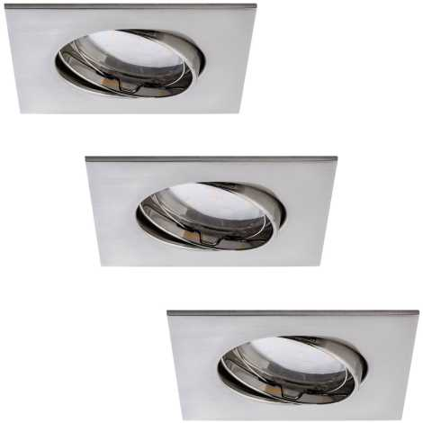 Paulmann 92773 - SADA 3x LED/6,8W Kúpeľňové podhľadové svietidlo COIN 3xLED/6,8W/230V
