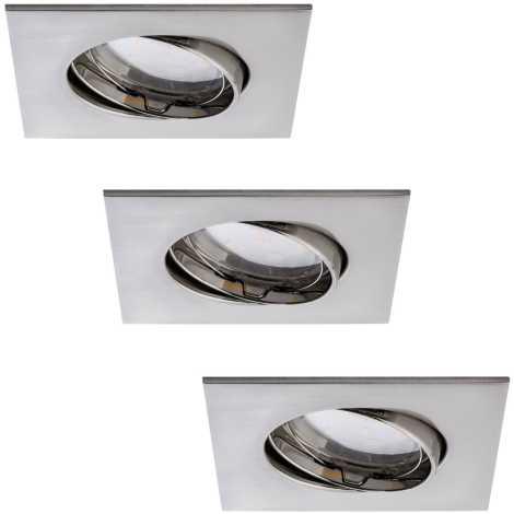 Paulmann 92773 - SADA 3xLED/6,8W Kúpeľňové podhľadové svietidlo COIN 230V