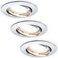 Paulmann 92780 - SADA 3xLED/6,8W Kúpeľňové podhľadové svietidlo COIN 230V