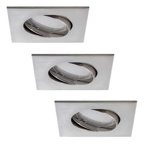 Paulmann 92841 - SADA 3xLED/7W Stmievateľné kúpeľňové podhľadové svietidlo COIN 230V