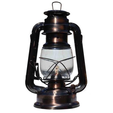 Petrolejová lampa meď