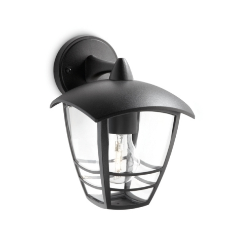 Philips 15381/30/16 - Vonkajšie nástenné svietidlo MYGARDEN CREEK 1xE27/60W/230V IP44