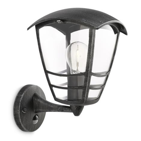 Philips 15468/54/16 - Vonkajšie nástenné svietidlo s čidlom MYGARDEN STREAM 1xE27/60W/230V