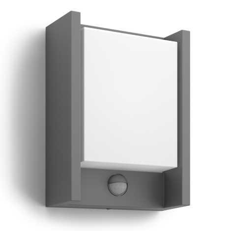 Philips 16461/93/P3 - LED vonkajšie svietidlo s čidlom MYGARDEN ARBOUR 1xLED/6W/230V