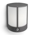 Philips 16465/93/16 - LED vonkajšie nástenné svietidlo s čidlom MYGARDEN STOCK 1xLED/6W/230V