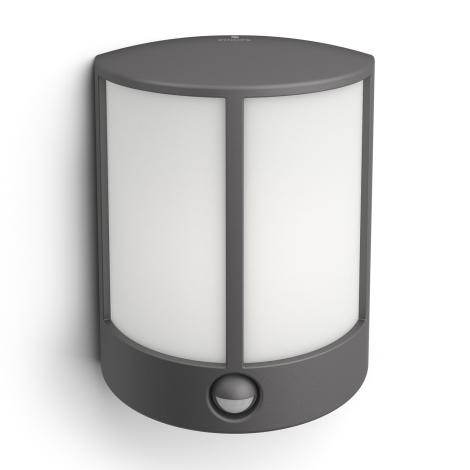 Philips 16465/93/P3 - LED vonkajšie nástenné svietidlo s čidlom MYGARDEN STOCK 1xLED/6W/230V