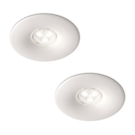 Philips 16861/31/16 - SADA 2x LED Kúpeľňové podhľadové svietidlo LEDINO LED/7,5W/230V