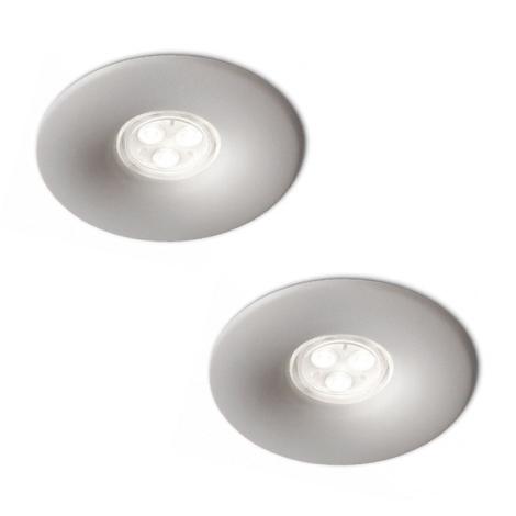 Philips 16861/87/16 - SADA 2x LED Kúpeľňové podhľadové svietidlo LEDINO LED/7,5W/230V