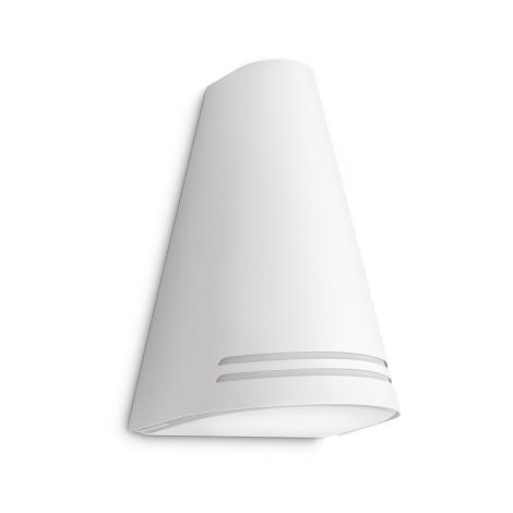 Philips 17226/31/16 - Vonkajšie nástenné svietidlo ECOMOODS 1xE27/15W biela