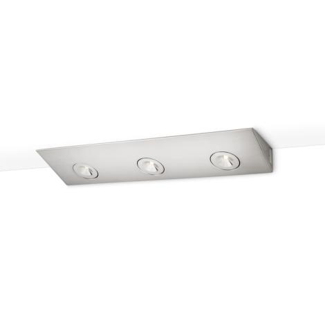 Philips 33801/17/16 - Podlinkové LED svietidlo FINESSE 3xHighPower LED/2,5W/230V