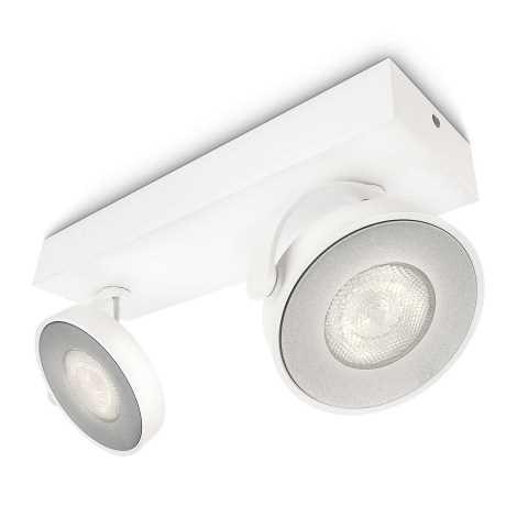 Philips 53172/31/16 - LED bodové svietidlo MYLIVING CLOCKWORK 2xLED/4W/230V