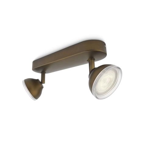 Philips 53242/06/16 - LED bodové svietidlo TOSCANE 2xLED/3W/230V