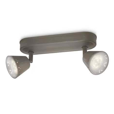 Philips 53252/26/16 - LED bodové svietidlo MYLIVING IDYLLIC 2xLED SMD/4W/230V