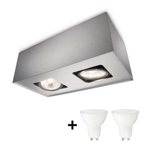 Philips 56232/48/PN - LED Bodové svietidlo TEMPO 2xGU10/6W/230V