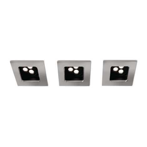 Philips 57972/17/16 - SADA 3xLED kúpeľňové podhľadové svietidlo MYLIVING STARDUST 1xLED/7,5W/230V