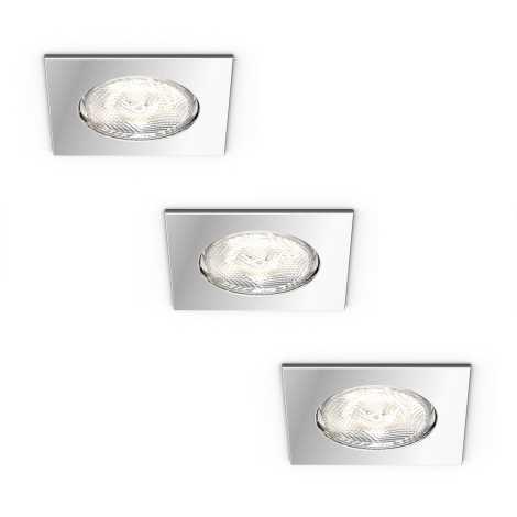 Philips 59007/11/P0 - SADA 3x LED podhľadové svietidlo MYBATHROOM DREAMINESS 3xLED/4,5W/230V
