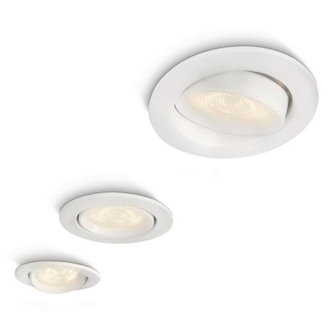 Philips 59030/31/16 - SADA 3x LED podhľadové svietidlo MYLIVING ELLIPSE 1xLED/3W/230V