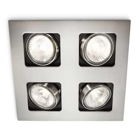 Philips 59304/17/16 - LED kúpeľňové podhľadové svietidlo 4xLED-GU10/10W + 4xGU10/50W/230V