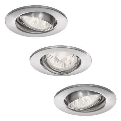 Philips 59463/17/16 - SADA 3x Kúpeľňové podhľadové svietidlo VIRGO 1xGU10/35W/230V