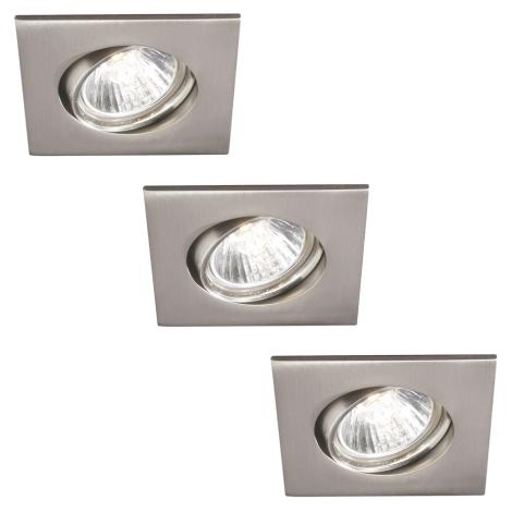 Philips 59473/17/16 - SADA 3xGU10/30W Kúpeľňové podhľadové svietidlo MYLIVING CAPELLA 3xGU10/30W/230V