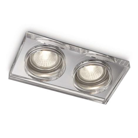 Philips 59562/11/16 - Kúpeľňové podhľadové svietidlo MYLIVING DERMOS 2xGU10/35W/230V