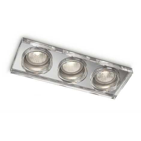 Philips 59563/11/16 - Kúpeľňové podhľadové svietidlo MYLIVING DERMOS 3xGU10/35W/230V