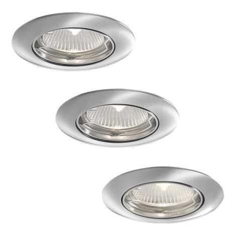 Philips 59773/17/16 - SADA 3x Kúpeľňové podhľadové svietidlo SMARTSPOT ALYA 1xGU10/35W/230V nerez
