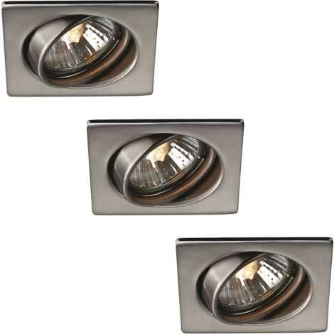 Philips 59783/17/10 - SADA 3x Kúpeľňové podhľadové svietidlo TONGA 1xGU10/50W/230V nerez