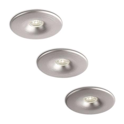 Philips 59843/48/16 - SADA 3x LED kúpeľňové podhľadové svietidlo MEROPE 3xLED/2W/230V