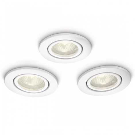 Philips 59902/31/16 - SADA 3x Kúpeľňové podhľadové svietidlo MYBATHROOM ROOTS 1xGU10/35W/230V