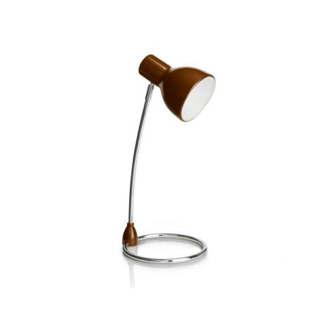 Philips 67204/43/16 - Stolná lampa SONG hnedá 1xE27/15W/230V