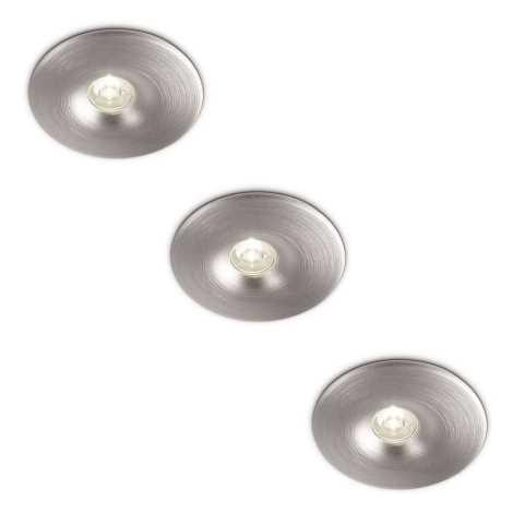 Philips 69077/48/16 - SADA 3x LED Kúpeľňové podhľadové svietidlo LEDINO 1xLED/2,5W/230V