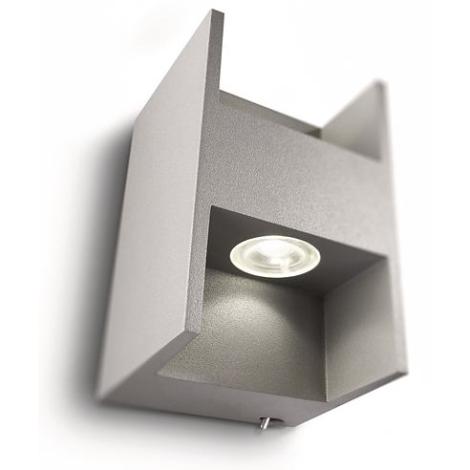 Philips 69087/87/16 - LED Nástenné svietidlo MYLIVING METRIC 2xLED/2,5W/230V