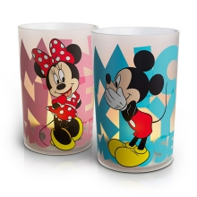 Philips 71712/55/16 - LED stolná lampa CANDLES MICKEY & MINNIE 2xSET LED/0,125W