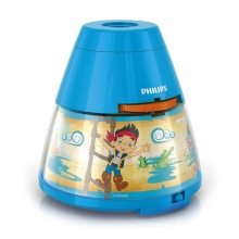 Philips 71769/05/16 - LED Detský projektor DISNEY PIRATE LED/0,1W/3xAA