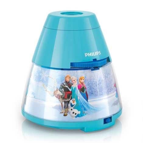 Philips 71769/08/16 - LED detský projektor DISNEY FROZEN LED/0,1W/3xAA