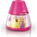 Philips 71769/28/16 - LED Detský projektor DISNEY PRINCESS LED/0,1W/3xAA